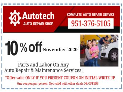 Autotech auto repair coupon
